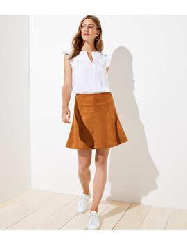 Faux Suede Flippy Skirt by Loft