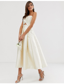 asos-edition-structured-bandeau-wedding-dress by asos-edition