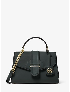 Bleecker Small Crossgrain Leather Satchel by Michael Michael Kors