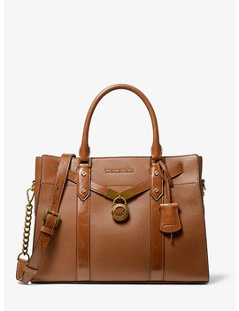 Nouveau Hamilton Large Pebbled And Crinkled Leather Satchel by Michael Michael Kors