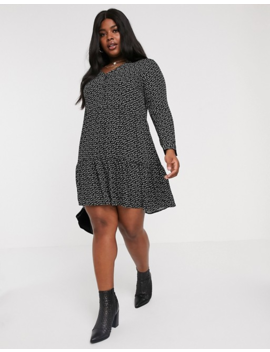 Vero Moda Curve Geo Print Smock Mini Dress by Vero Moda
