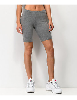 Lunachix Heather Charcoal Bike Shorts by Lunachix
