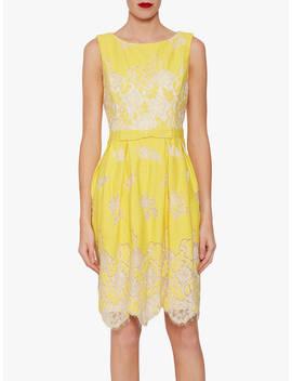 Gina Bacconi Oline Lace Dress, Lemon by Gina Bacconi