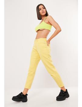 Yellow Riot High Waisted Mom Jeans by Missguided