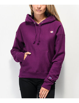 Champion Reverse Weave Venetian Purple Hoodie by Champion