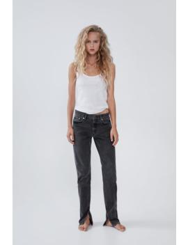 Hi  Rise Split Slim Fit Jeansjoin Life Woman Cornershops by Zara