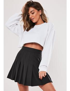 Black Pleated Mini Skirt by Missguided