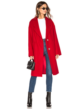 Wool Overcoat In Red by Kendall + Kylie