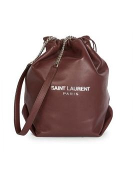 Small Teddy Leather Bucket Bag by Saint Laurent