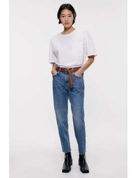 Washed Z1975 Mom Fit Jeans  Jeans Denim Woman Cornershops by Zara