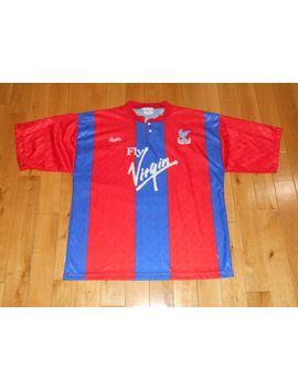 Vintage 90 Bukta Crystal Palace Fc Premier League Mens Fa Cup Team Kit Jersey 42 by Bukta