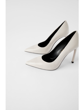 Lederpumps Mit Hohem Absatz Schuhedamen Shoes & Bags by Zara