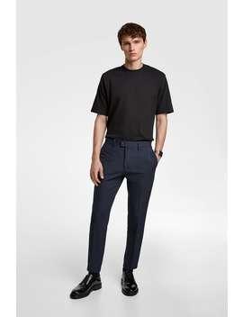 4  Ways Heathered Pants Basics Trousers Man by Zara