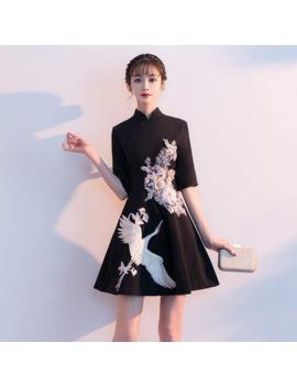 Japanese Clothing Style Formal Dress Women Elegant Robe Modern Cheongsam Chinese Mandarin Collar Gown 2019 Summer Dresses Ff1705 by Ali Express