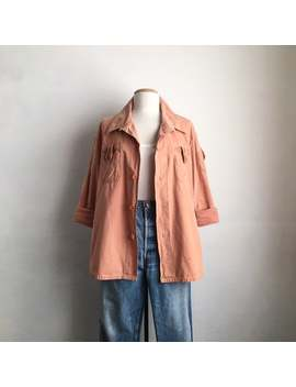 Vintage Artist Smock Jacket Cotton Hippie Shirt 70s Clothing by Etsy