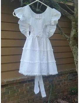 1970s White Pinafore For Girls Age 5 To 6 Size 6 Miss World L Vintage Childrens Clothing L 1970s Childrens Clothing Childs Pinafore White by Etsy