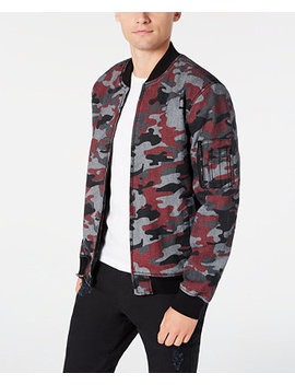 Men's Frankie Camo Bomber Jacket, Created For Macy's by General