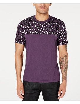 I.N.C. Men's Foil Leopard T Shirt, Created For Macy's by General