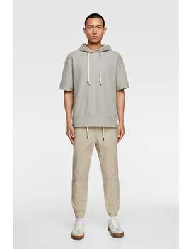 Textured Jogging Pants  View All Trousers Man by Zara