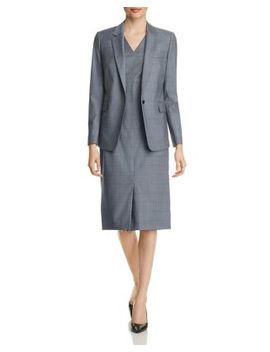 Checked Blazer & Sheath Dress by Boss