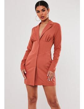 Stassie X Missguided Rust Corset Blazer Dress by Missguided