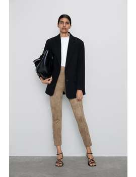 Faux Suede Leggings View All Trousers Woman by Zara