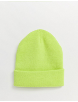 New Look Beanie In Lime Green by New Look