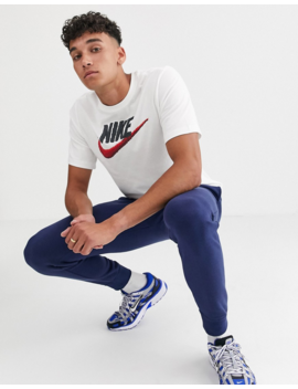 Nike Tall Swoosh T Shirt In White by Nike