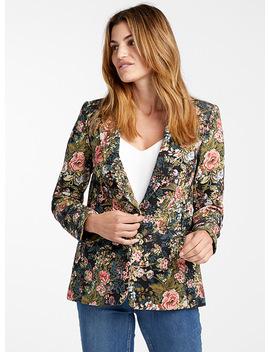 Floral Jacquard Jacket by Contemporaine