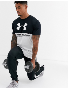 Under Armour Colour Block T Shirt In Black by Under Armour