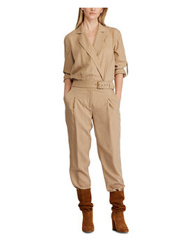 Trench Look Twill Jumpsuit by General