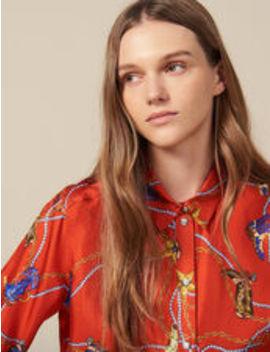 Printed Silk Twill Shirt by Sandro Eshop