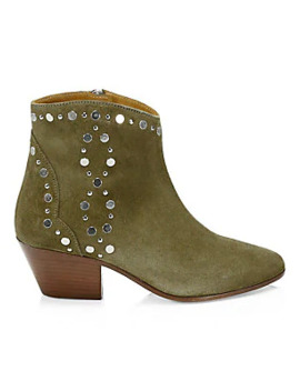 Brian Studded Leather Western Booties by Sam Edelman