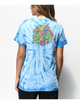 Santa Cruz Baked Dot Blue Tie Dye T Shirt by Santa Cruz Skate