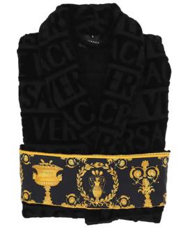 Barocco & Robe Cotton Bathrobe by Versace