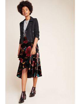 Velvet Wrap Skirt by Eva Franco