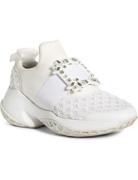 Viv Crystal Buckle Slip On Sneaker by Roger Vivier