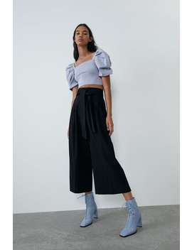 Culottes With Belt View All Pants Woman by Zara