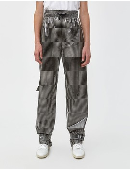 Jogging Pant In Black Check by Off White