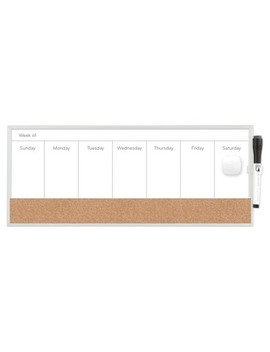 "Ubrands® Magnetic Dry Erase Weekly Planner 7.5""X18"" White by U Brands"