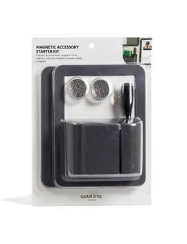 Magnetic Locker Accessory Starter Kit Dark Gray   Locker Style By U Brands by Locker Style By U Brands