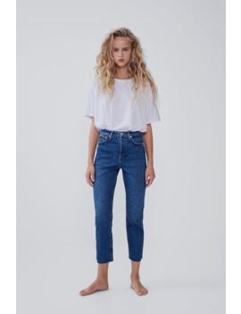 Hi Rise Trumpet Jeans  High Waist Jeans Woman by Zara