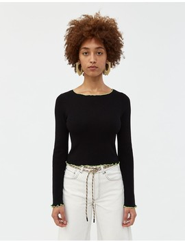 Lolita Contrast Trim Sweater by Which We Want