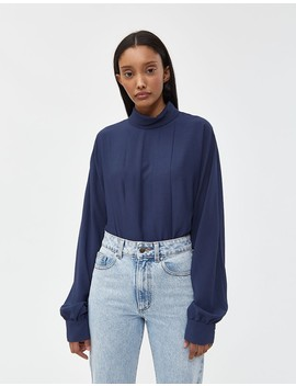 Cleo Blouse In Navy by Need
