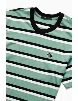 Obey Jeff Classic Striped T Shirt by Pacsun