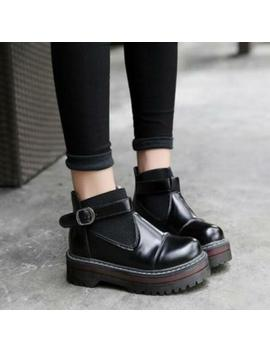 Womens Punk Retro Creeper Platform Ankle Boots Mary Jane Buckles Low Heels Zsell by Ebay Seller