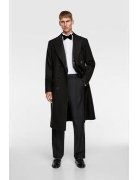 Long Tailored Coat Outerwearman by Zara