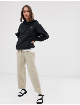 Nike   Hoodie Oversize Avec Petit Logo Virgule   Noir by Nike