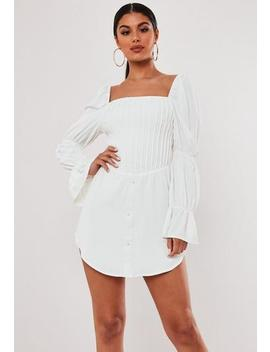 Stassie X Missguided White Corset Bodice Milkmaid Dress by Missguided