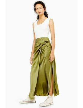 **Knotted Silk Skirt By Boutique by Topshop